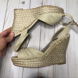 White House Black Market Wedged Heel Sandals